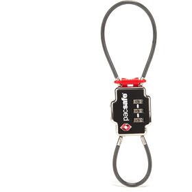Pacsafe TSA Accepted Candado Cable Doble 3-Números, negro